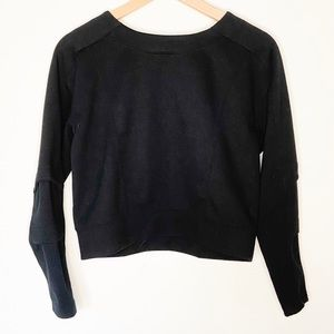 F21 Cropped Black Sweater